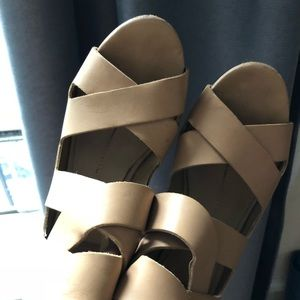 Dolce Vito wedge tan sandals